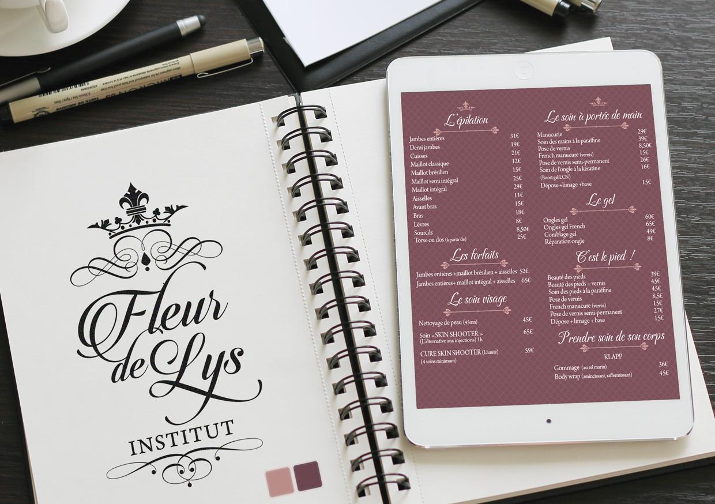 creation de logo charte graphique et cartes de visite salon de beauté