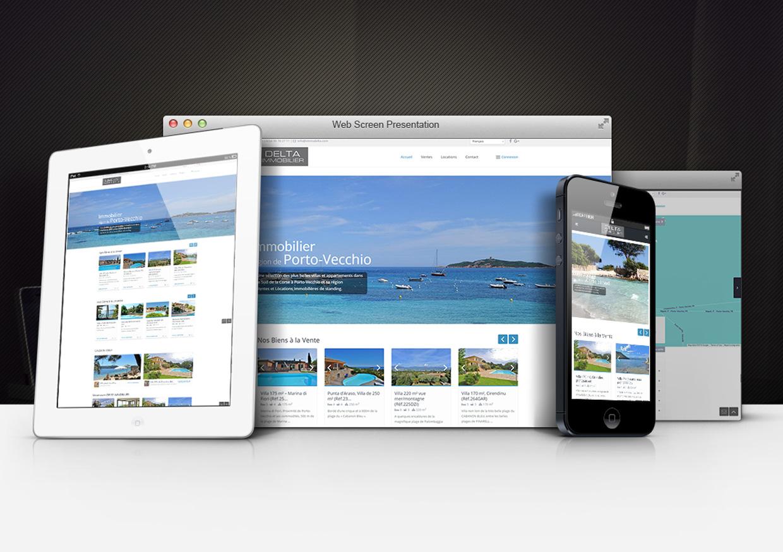 Création de site Internet pour Agence Immobilière