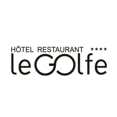 creation de logo hotel restaurant le golf