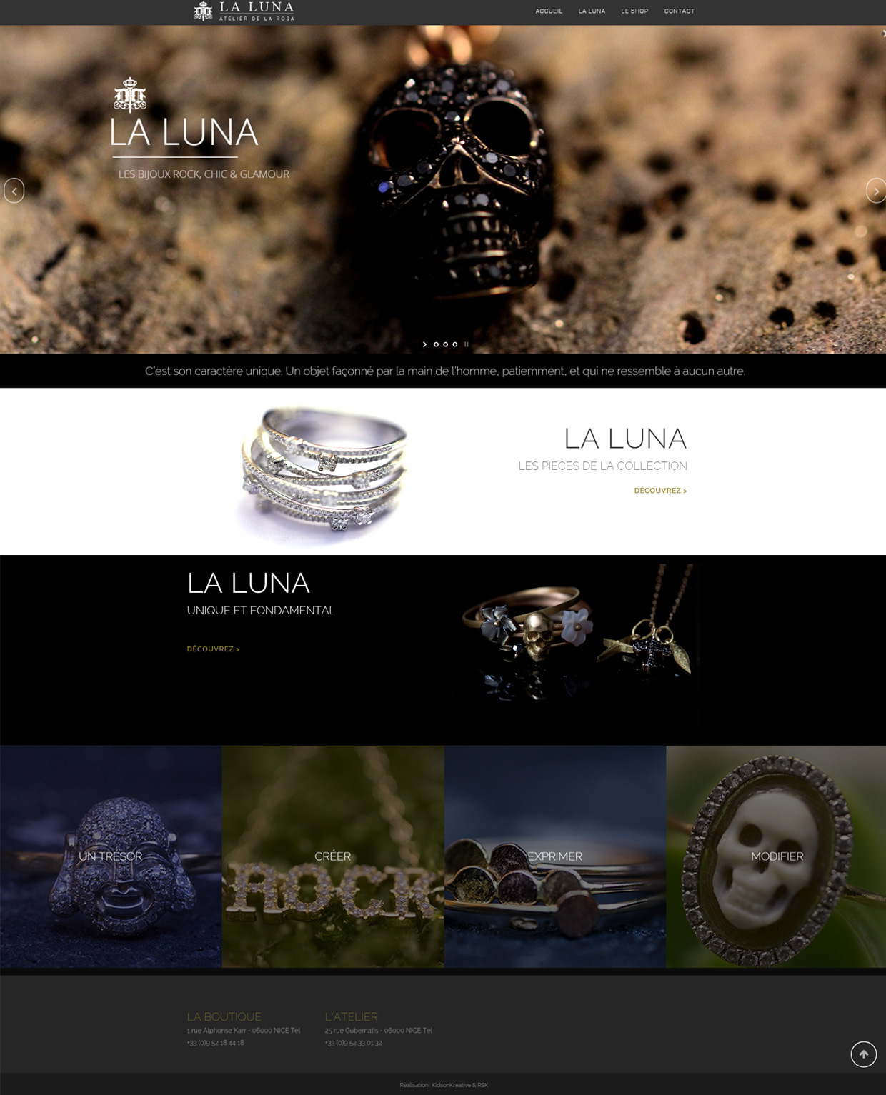 creation de sites internet la luna