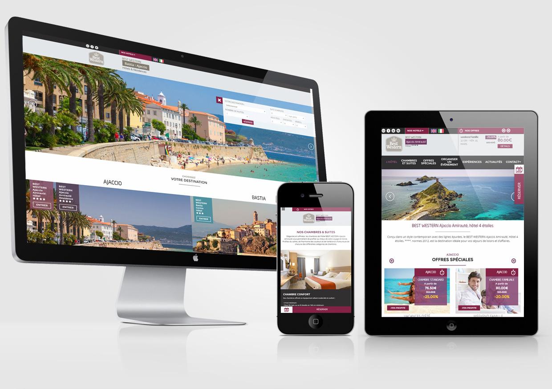 Best Western Ajaccio - Bastia agence création site internet corse