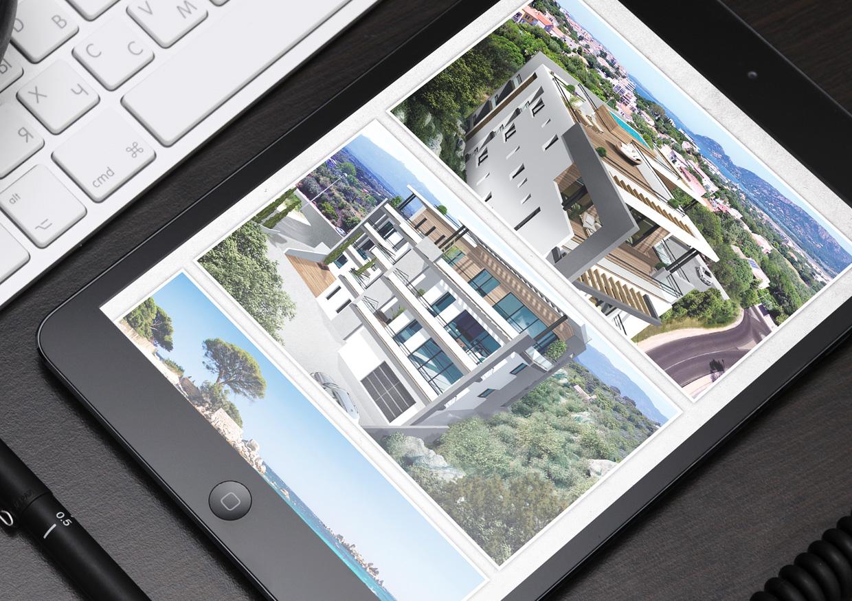 plaquette et fiches immobilières brochure