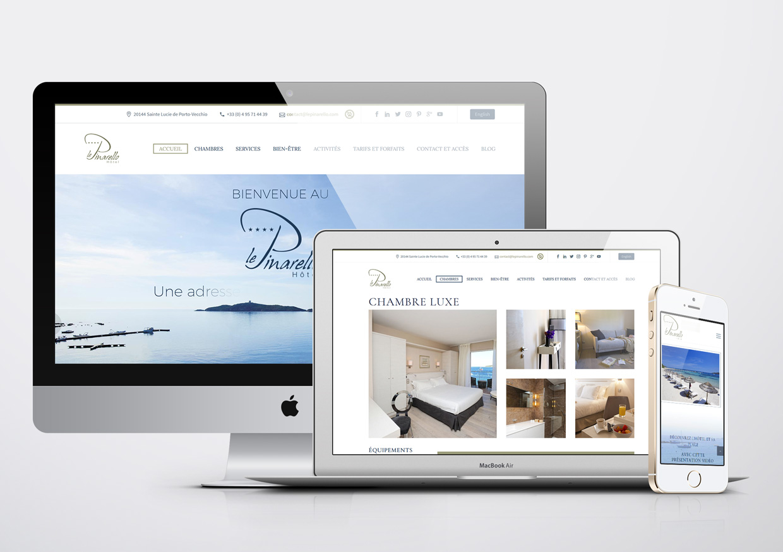 Création de site Internet Le Pinarello Hotel