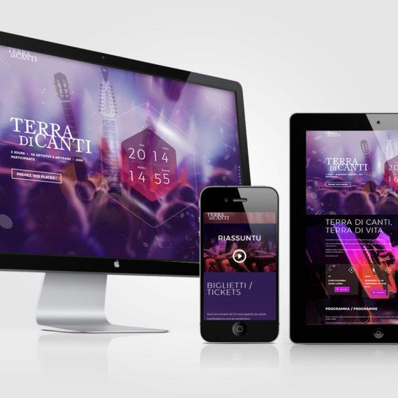Création de site Internet Festival Terra di Canti
