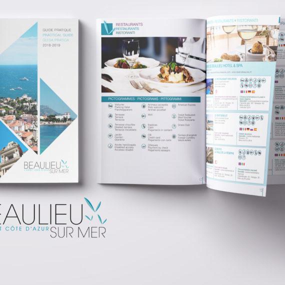 Brochure touristique Beaulieu sur Mer Print Design