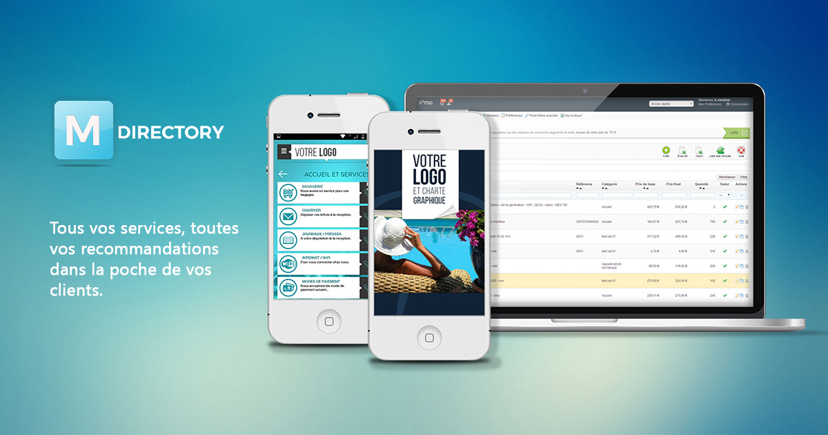 creation d'application mobiles pour hotel mdirectory