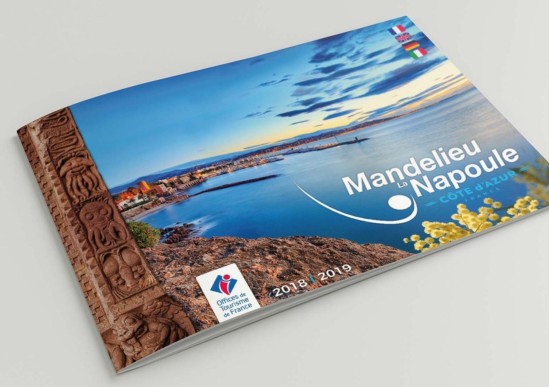 Brochure touristique Mandelieu la Napoule - Print Design