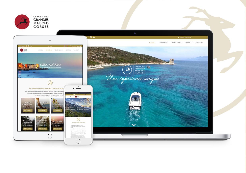 Création de site Internet Hôtellerie de Luxe - Cercle des Grandes Maisons Corses
