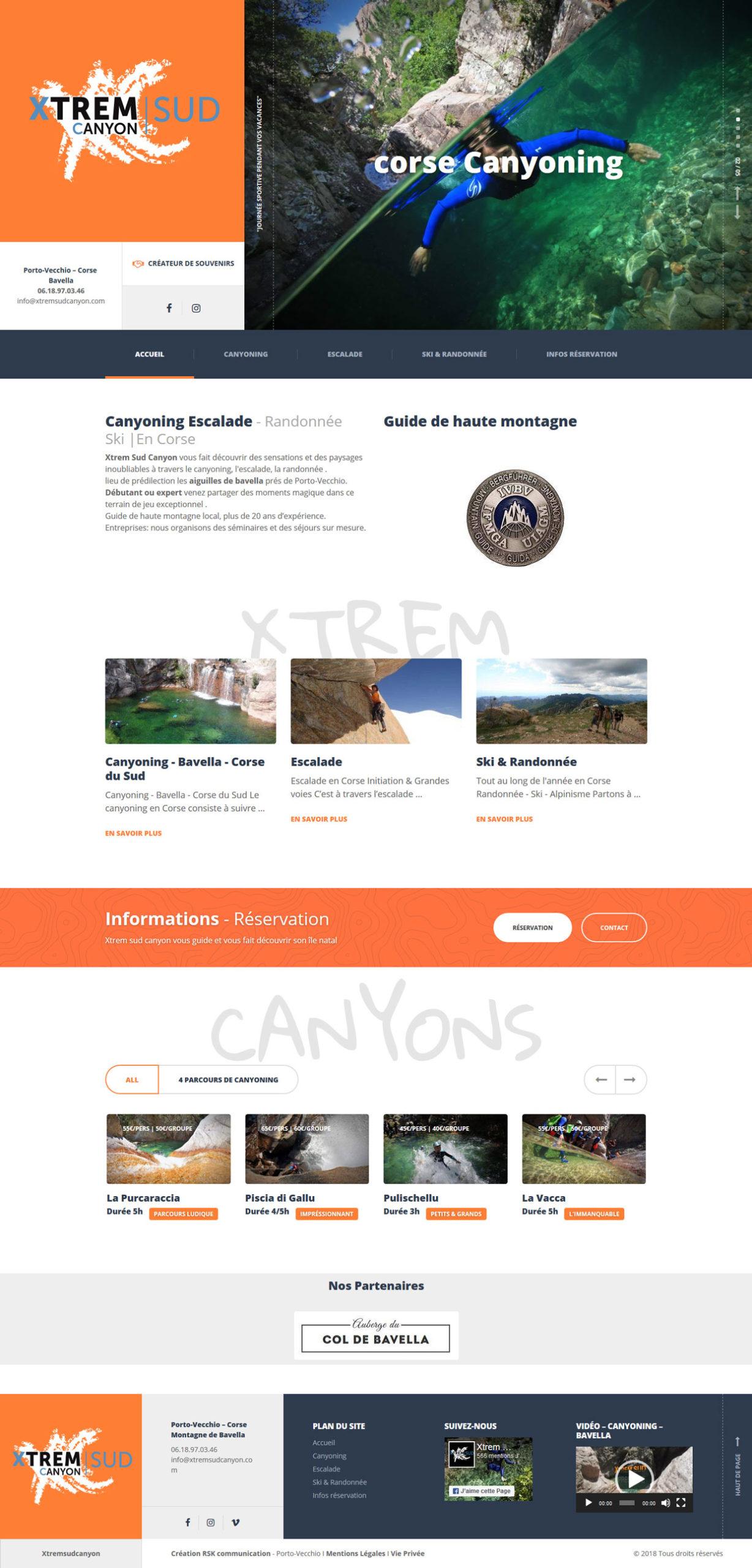 création de site Internet pour Activités de plaine nature en Corse