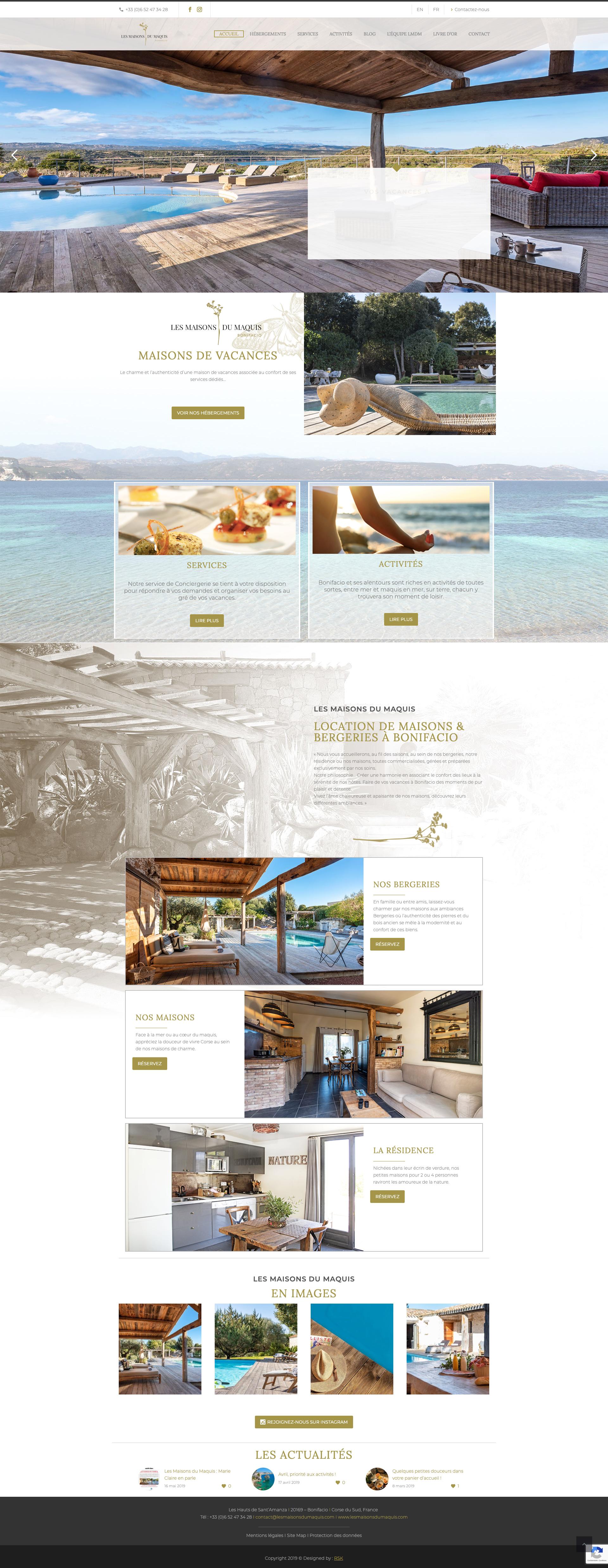 Creation Site Web Résidence de vacances de luxe