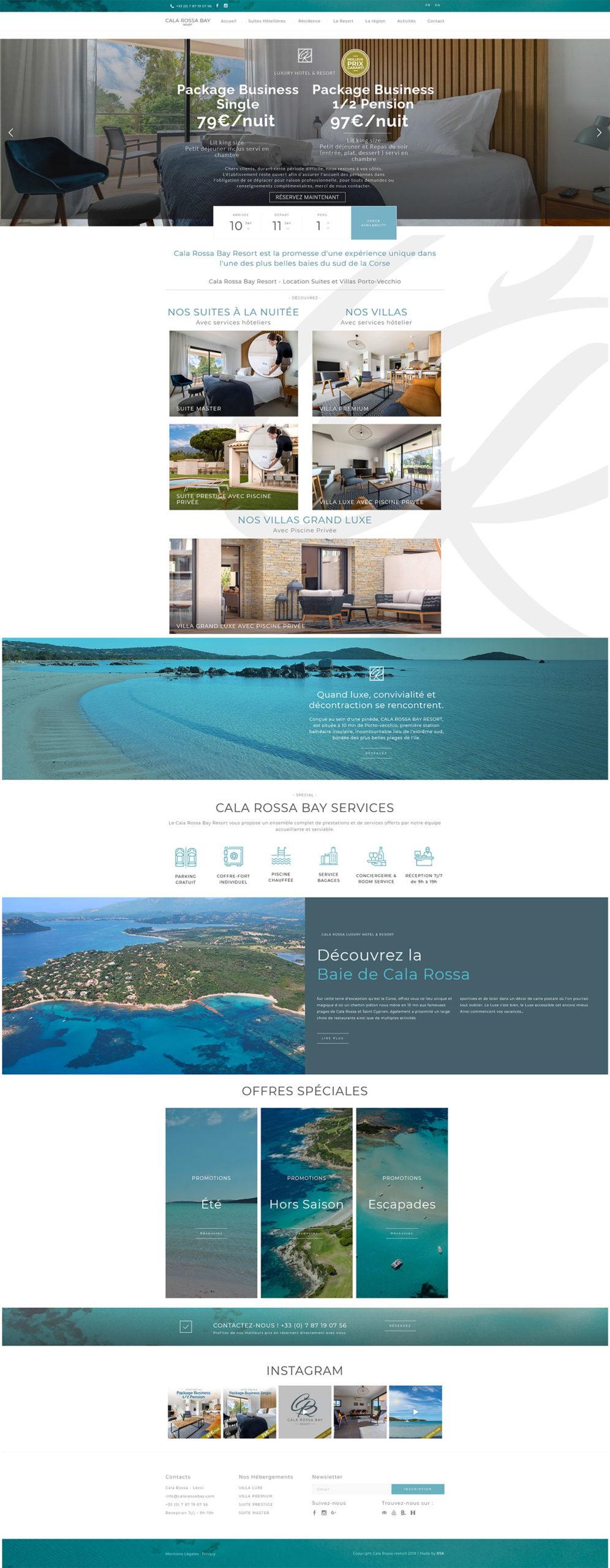 Création Site Internet Corse Hôtellerie Luxe