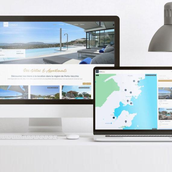 Site web de réservation de villas et conciergerie